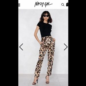 Nasty Gal Leopard Print Pants - Size 4